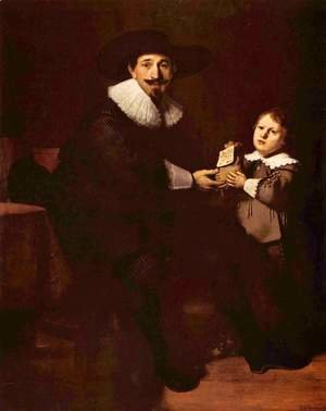 Portrait of Jan and his son Caspar Pellicone