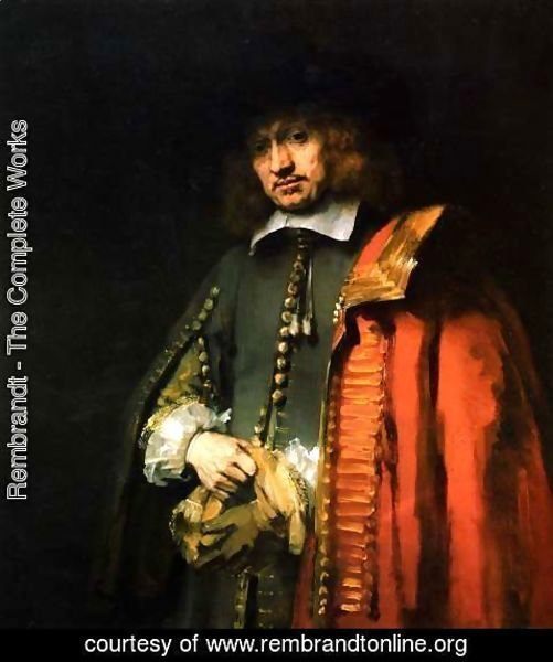 Rembrandt - Portrait of Jan Six 2