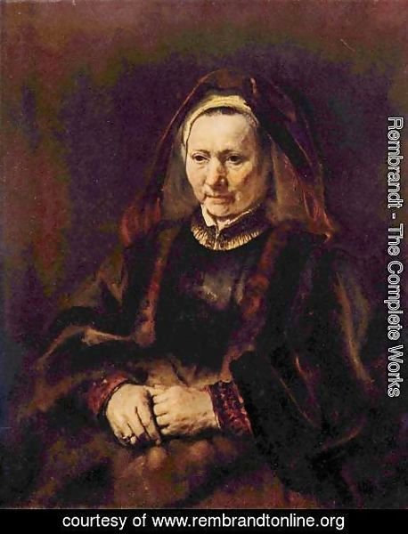 Rembrandt - Portrait of a seated old woman