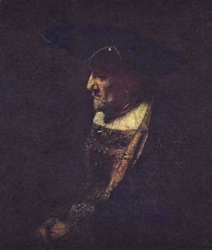 Rembrandt - Portrait of a man in hat