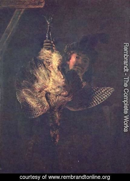 Rembrandt - Self portrait with a dead bird