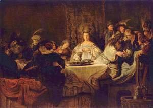 Rembrandt - Samson Posing The Riddle At His Wedding Feast 2