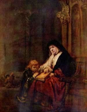 Rembrandt - Timothy and his grandmother