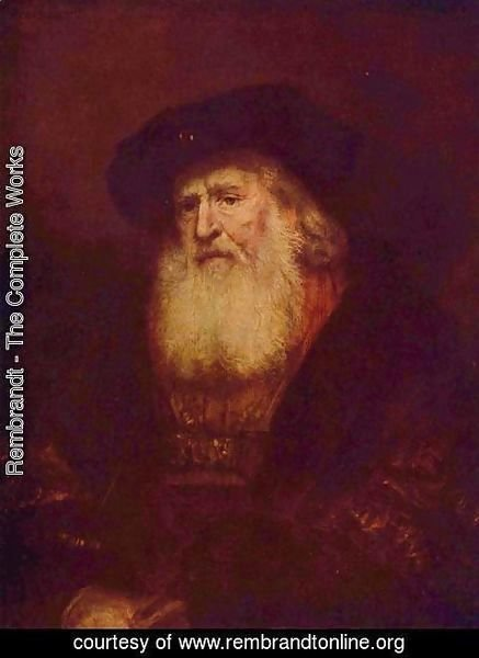 Rembrandt - Portrait of a bearded old man