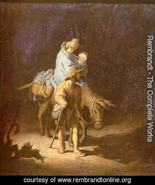 Rembrandt - The flight into Egypt
