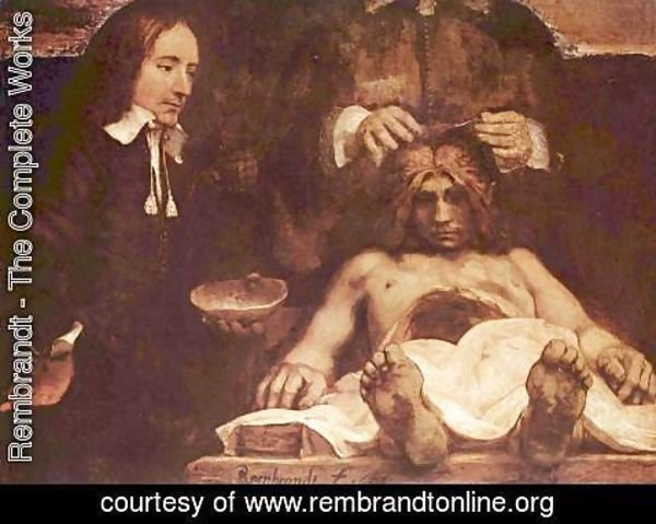 Rembrandt - The anatomy lesson of Dr. Joan Deyman (or Dr. Jan Deijman)