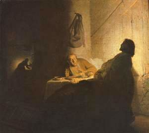 The Supper at Emmaus - Alternate title Christ at Emmaus