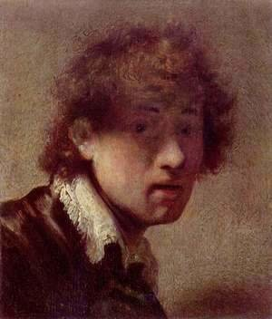 Rembrandt - Self portrait at an early age 2