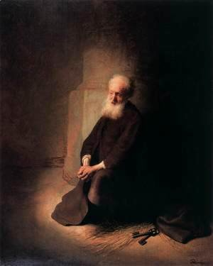 Rembrandt - Apostle Peter in Prison