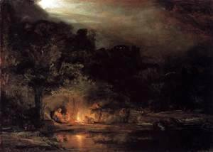 Rembrandt - Rest on the Flight into Egypt