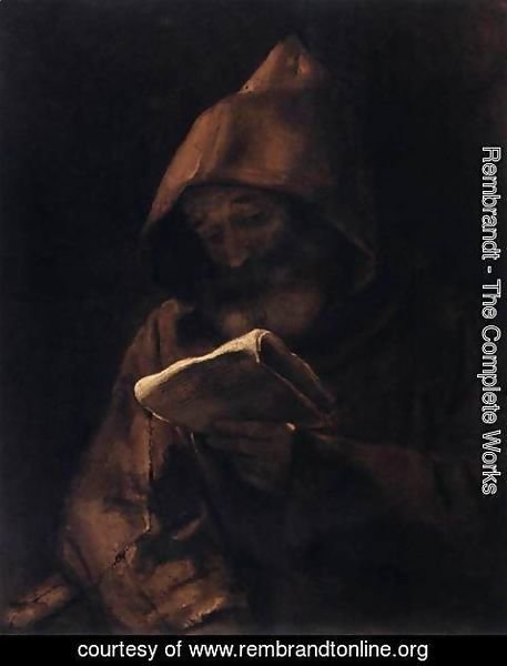 Rembrandt - Franciscan Monk Reading