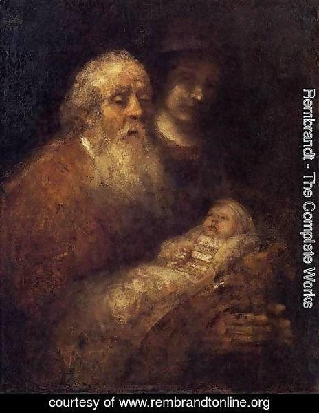 Rembrandt - Simeon with the Infant Jesus in the Temple