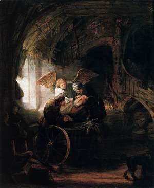 Rembrandt - Tobit is Healed by His Son