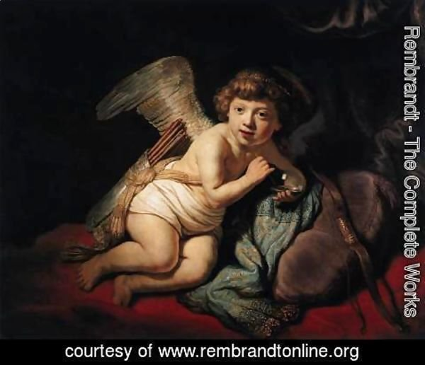 Rembrandt - Cupid with the Soap Bubble