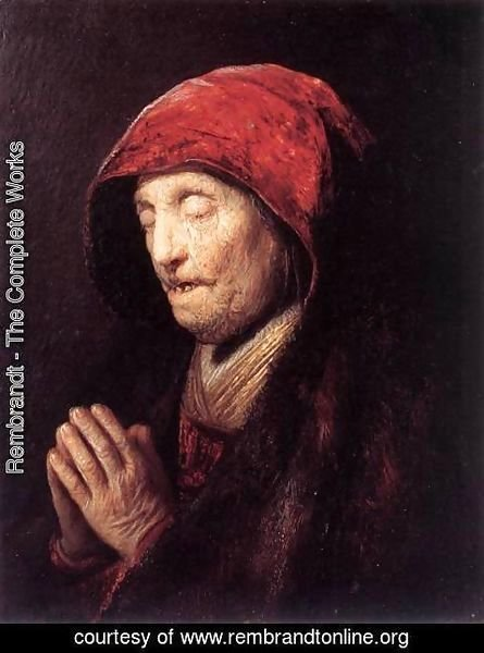 Rembrandt - Old Woman Praying