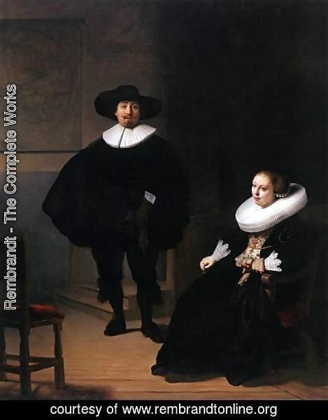 Rembrandt - Jan Pietersz. Bruyningh, and His Wife Hillegont Pietersdr. Moutmaker