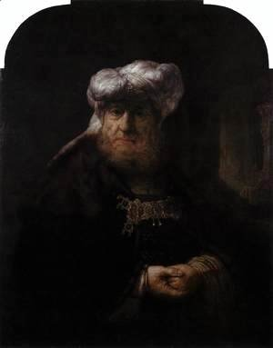 Rembrandt - Man in Oriental Costume