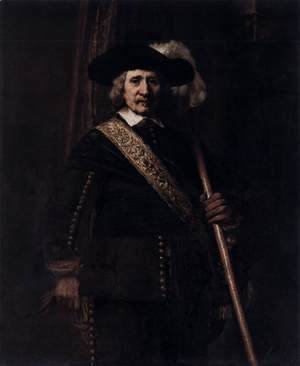 Rembrandt - The Standard Bearer (Floris Soop)