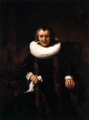 Rembrandt - Portrait of Marguerite de Geer, Wife of Jacob Trip