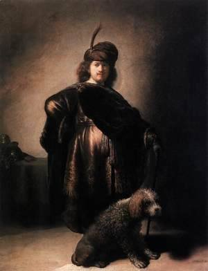 Self-Portrait with Poodle