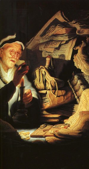 Rembrandt - Parable of the Rich Man (detail)