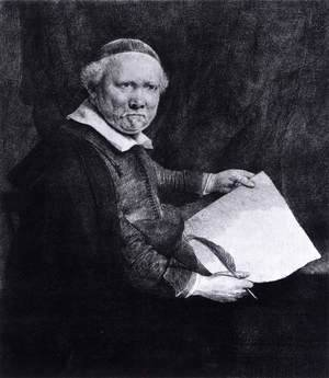 Rembrandt - Lieven Willemsz van Coppenol (the Large Coppenol)