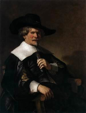 Rembrandt - Portrait of a Man Seated in an Armchair