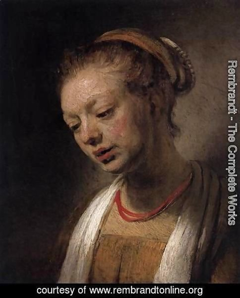 Rembrandt - Young Woman with a Red Necklace