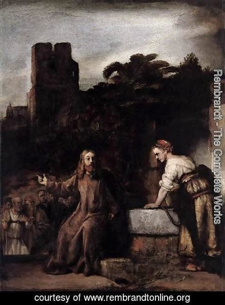 Rembrandt - Christ and the Woman of Samaria 2