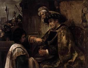 Rembrandt - Pilate Washing His Hands