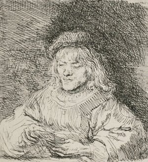Rembrandt - A Man Playing Cards