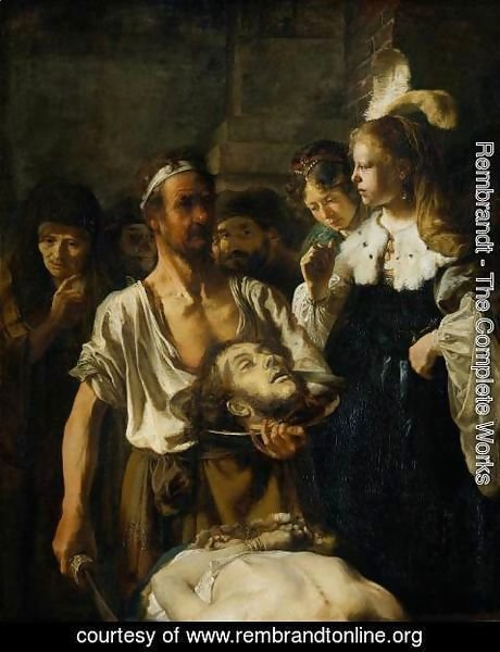 Rembrandt - The Beheading of John the Baptist