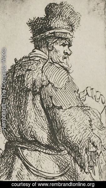 Rembrandt - An Old Man Seen from Behind