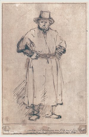 Rembrandt - Self-portrait in studio attire