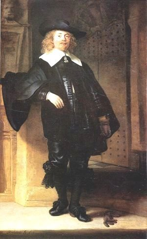 Rembrandt - Full Length Portrait of a Standing Man
