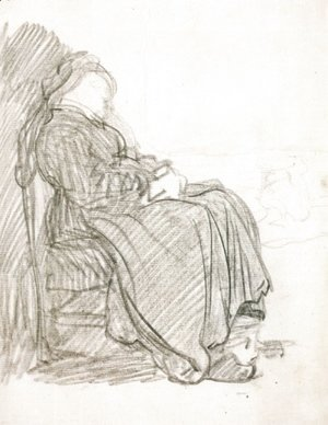 Rembrandt - A Study of a Woman Asleep