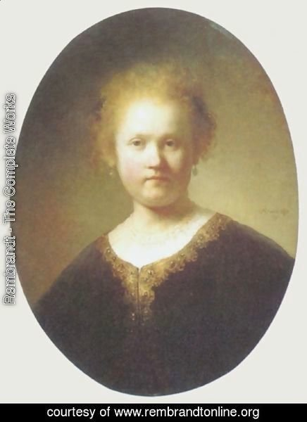 Rembrandt - Bust of a Young Woman