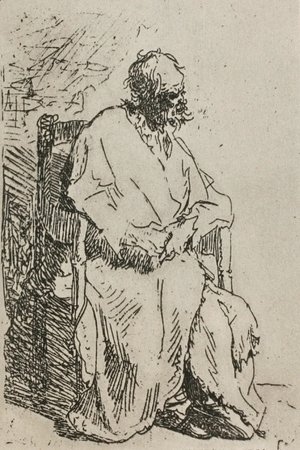 A Beggar Sitting in an Elbow Chair