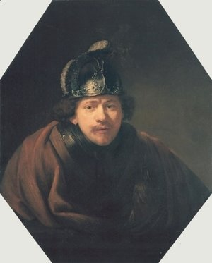 Rembrandt - Self-portrait with Helmet