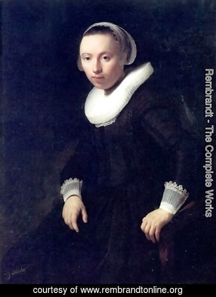 Rembrandt - A Portrait of a Young Woman