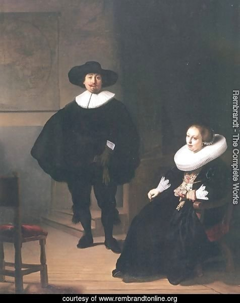 Portrait of a Couple in an Interior