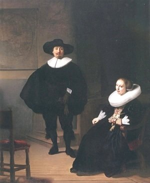 Rembrandt - Portrait of a Couple in an Interior