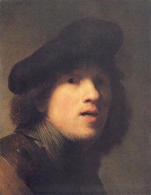 Rembrandt - Self-portrait with Gorget and Beret