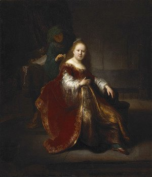 Rembrandt - A young woman at her toilet