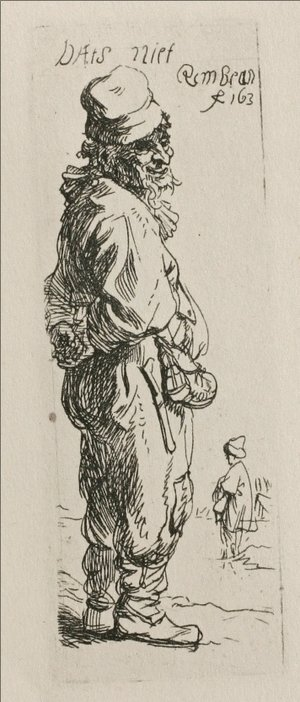 Rembrandt - A Beggar and a Companion Piece, Turned to the Right