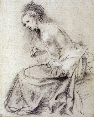 Rembrandt - Female nude seated, Suzanne