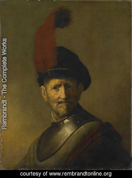 Rembrandt - An Old Man in Military Costume (formerly called Portrait of Rembrandt's Father)