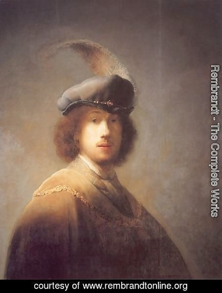 Rembrandt - Self-portrait with Plumed Beret