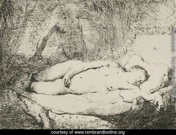 A Woman Lying on a Bed