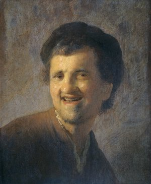 Rembrandt - Bust of a laughing young man